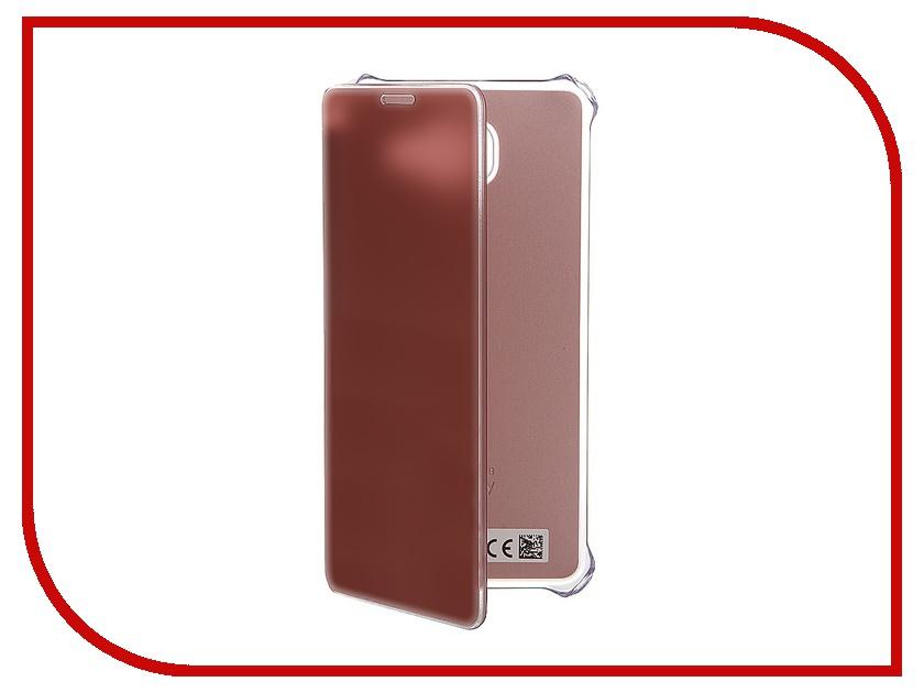 Аксессуар Чехол Samsung Galaxy A5 2016 Clear View Cover Pink-Gold EF-ZA510CZEGRU<br>