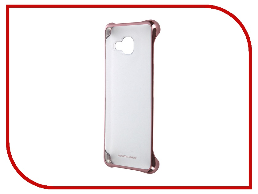 Аксессуар Чехол-накладка Samsung Galaxy A3 2016 Clear Cover Pink-Gold EF-QA310CZEGRU