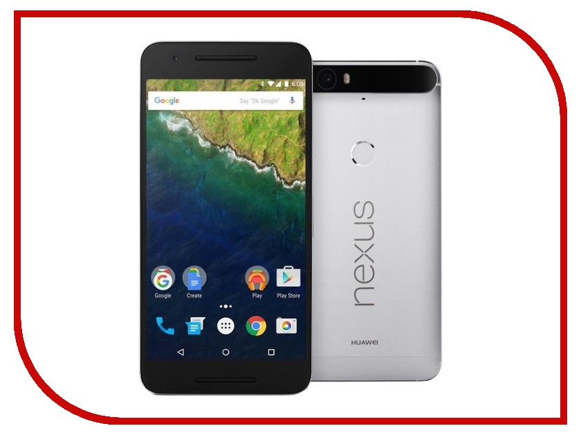 Сотовый телефон Huawei Nexus 6P 32Gb Silver<br>