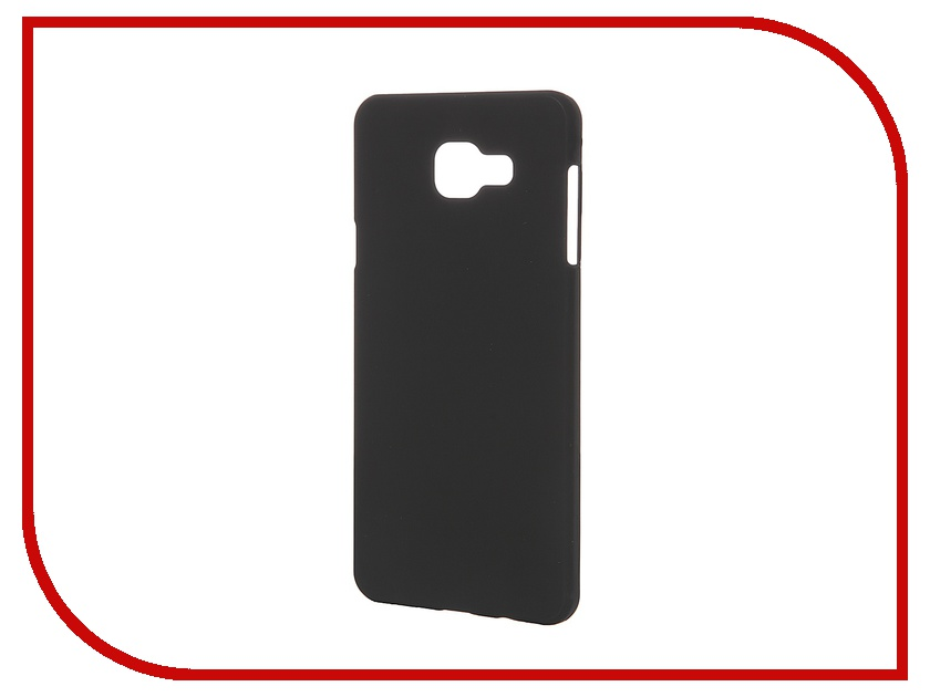 Аксессуар Чехол-накладка Samsung Galaxy A7 2016 SkinBox 4People Black T-S-SGA72016-002 + защитная пленка<br>