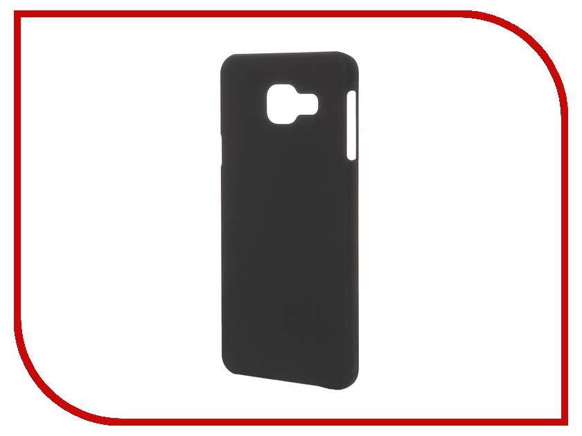 Аксессуар Чехол-накладка Samsung Galaxy A3 2016 SkinBox 4People Black T-S-SGA32016-002 + защитная пленка<br>