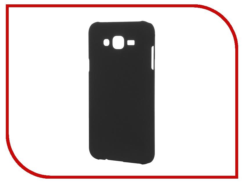 Аксессуар Чехол-накладка Samsung Galaxy J7 SkinBox 4People Black T-S-SGJ7-002 + защитная пленка<br>