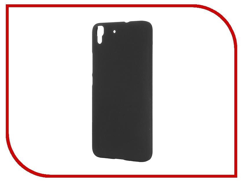 Аксессуар Чехол Huawei Y6 SkinBox 4People Black T-S-HY6-002 + защитная пленка<br>