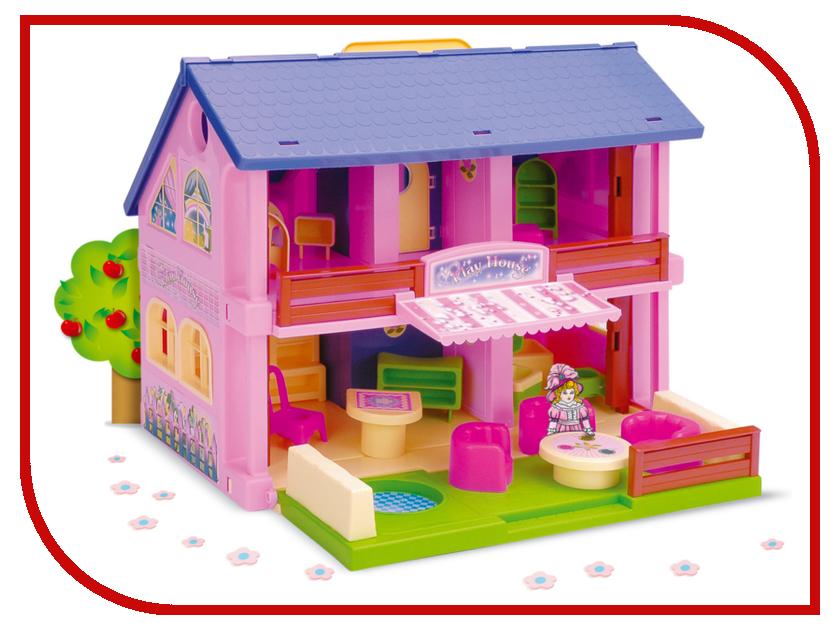 Кукольный домик Wader 25400 кукольный домик iwoodplay 26x45x32cm с эркерами igkd 02 01