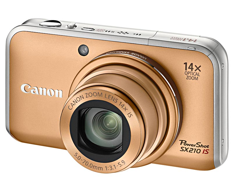Фотоаппарат Canon PowerShot SX210 IS Gold*