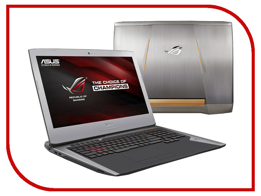Ноутбук ASUS ROG G752VY-GC122T 90NB09V1-M01370 (Intel Core i7-6700HQ 2.6 GHz/16384Mb/1000Gb + 128Gb SSD/DVD-RW/nVidia GeForce GTX 980M 4096Mb/Wi-Fi/Cam/17.3/1920x1080/Windows 10 64-bit)<br>