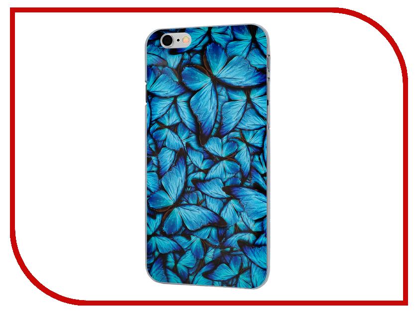 Аксессуар Чехол iPapai для iPhone 6 Синие бабочки<br>