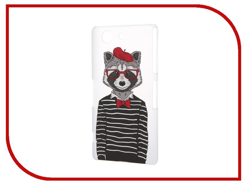 Аксессуар Чехол Sony Xperia Z3 Compact iPapai Hipsta Animals Енот<br>