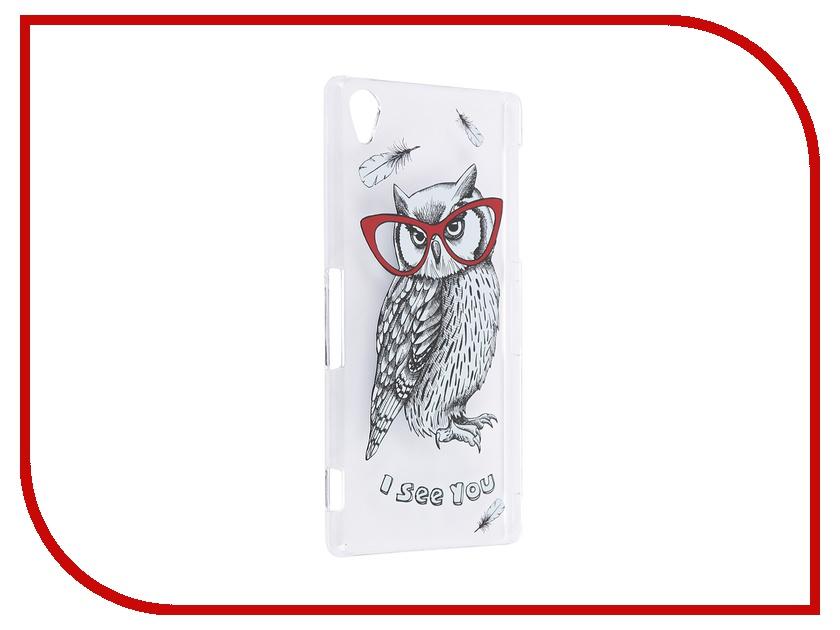 Аксессуар Чехол Sony Xperia Z3 iPapai Sketch Animals Сова<br>