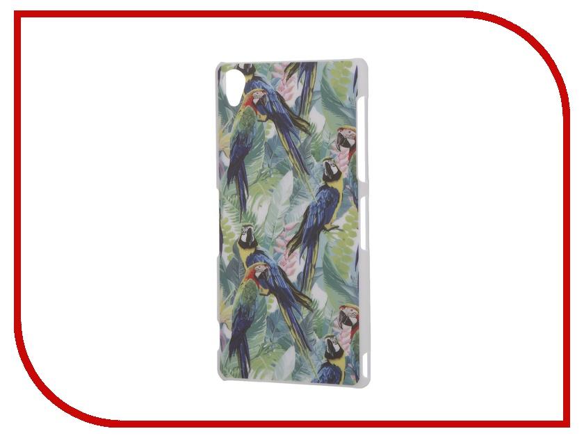 Аксессуар Чехол Sony Xperia Z3 iPapai Флора Попугаи мерцающий песок попугаи