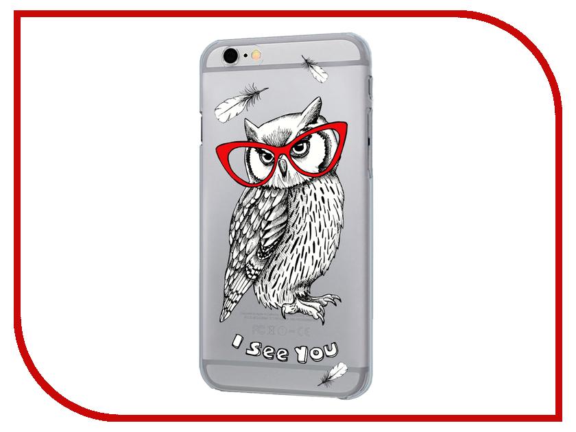 Аксессуар Чехол iPapai для iPhone 6 Sketch Animals Сова<br>