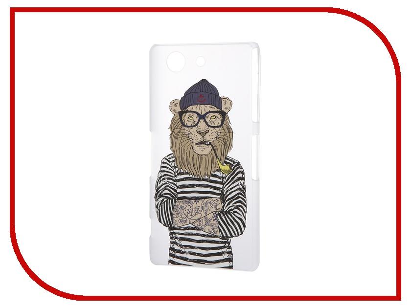 Аксессуар Чехол Sony Xperia Z3 Compact iPapai Hipsta Animals Лев<br>