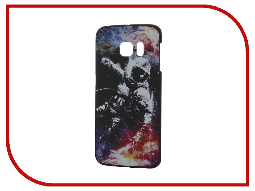 Аксессуар Чехол-накладка Samsung G925F Galaxy S6 Edge iPapai Космос Космонавт<br>