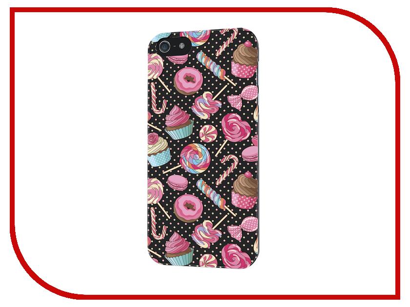 Аксессуар Чехол iPapai для iPhone 5 / 5S Ассорти Сладости<br>