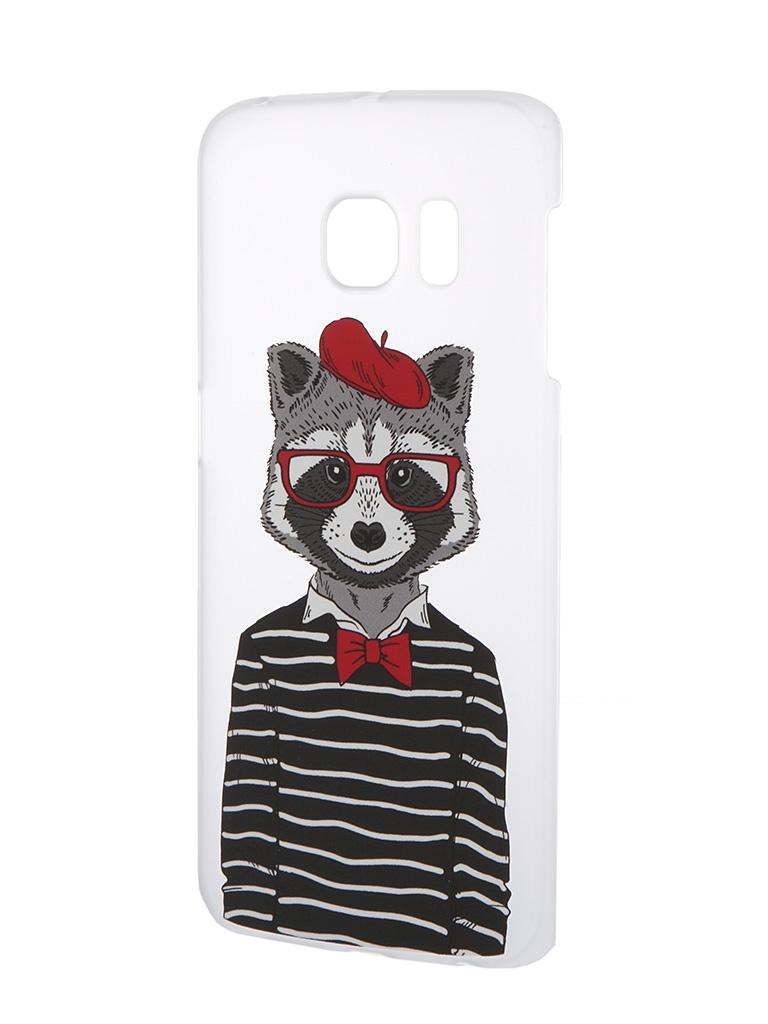 Аксессуар Чехол Samsung Galaxy S6 Edge iPapai Hipsta Animals Енот<br>