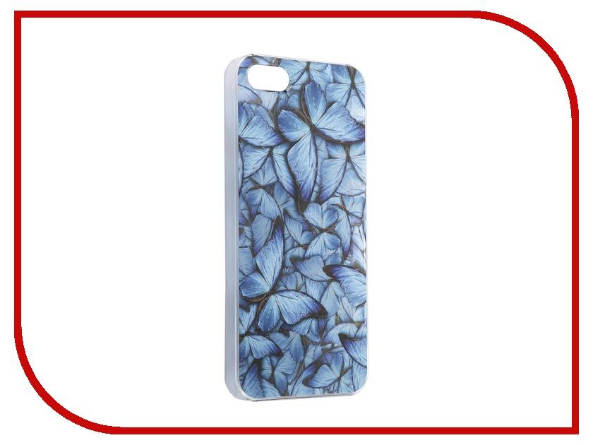 Аксессуар Чехол iPapai для iPhone 5C Синие бабочки<br>