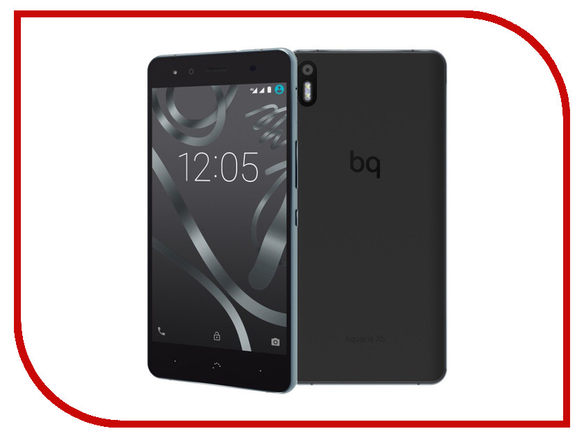 Сотовый телефон BQ Aquaris X5 Cyanogen 2Gb RAM 16Gb Black-Anthracite Grey<br>
