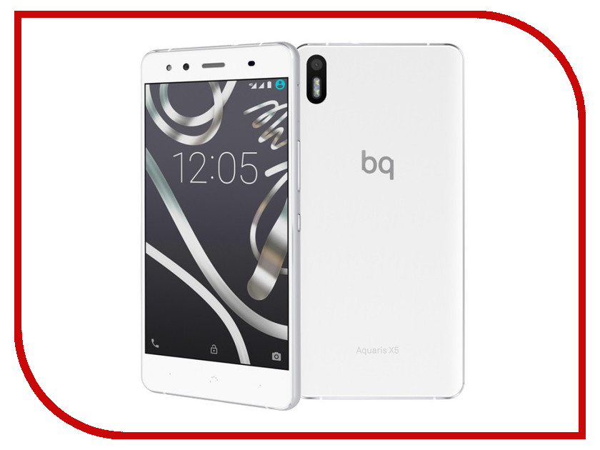 Сотовый телефон BQ Aquaris X5 2Gb RAM 16Gb White-Silver<br>