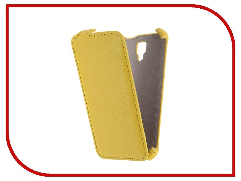 Аксессуар Чехол Lenovo A2010 Activ Flip Case Leather Yellow 55351<br>