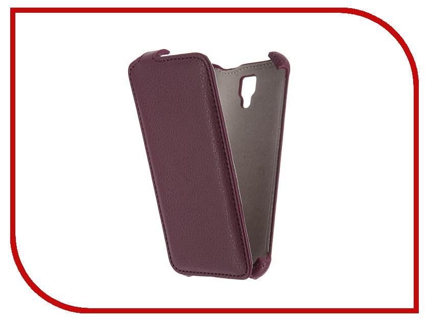 Activ - ��������� ����� Lenovo A2010 Activ Flip Case Leather Violet 55349