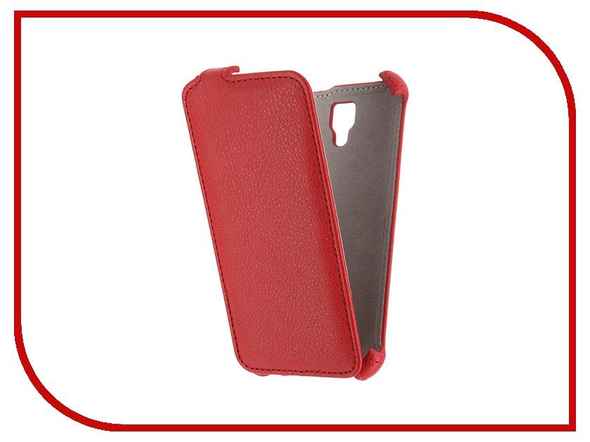 Аксессуар Чехол Lenovo A2010 Activ Flip Case Leather Red 52689<br>