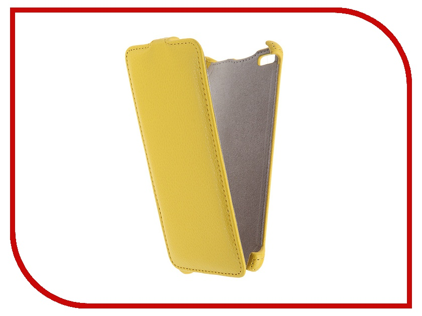 Аксессуар Чехол Micromax Q450 Canvas Silver 5 Activ Flip Case Leather Yellow 55387