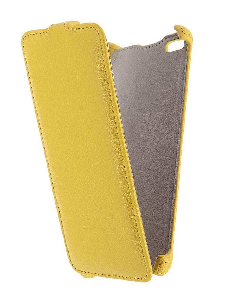 Аксессуар Чехол Micromax Q450 Canvas Silver 5 Activ Flip Case Leather Yellow 55387