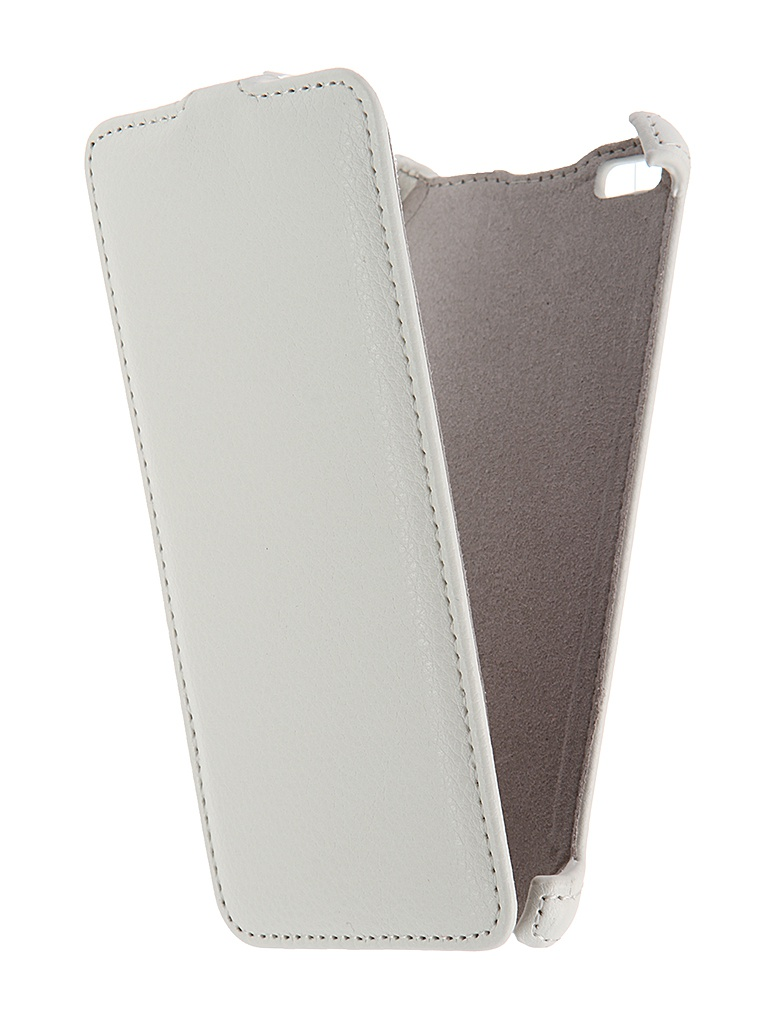 Аксессуар Чехол Micromax Q450 Canvas Silver 5 Activ Flip Case Leather White 55386