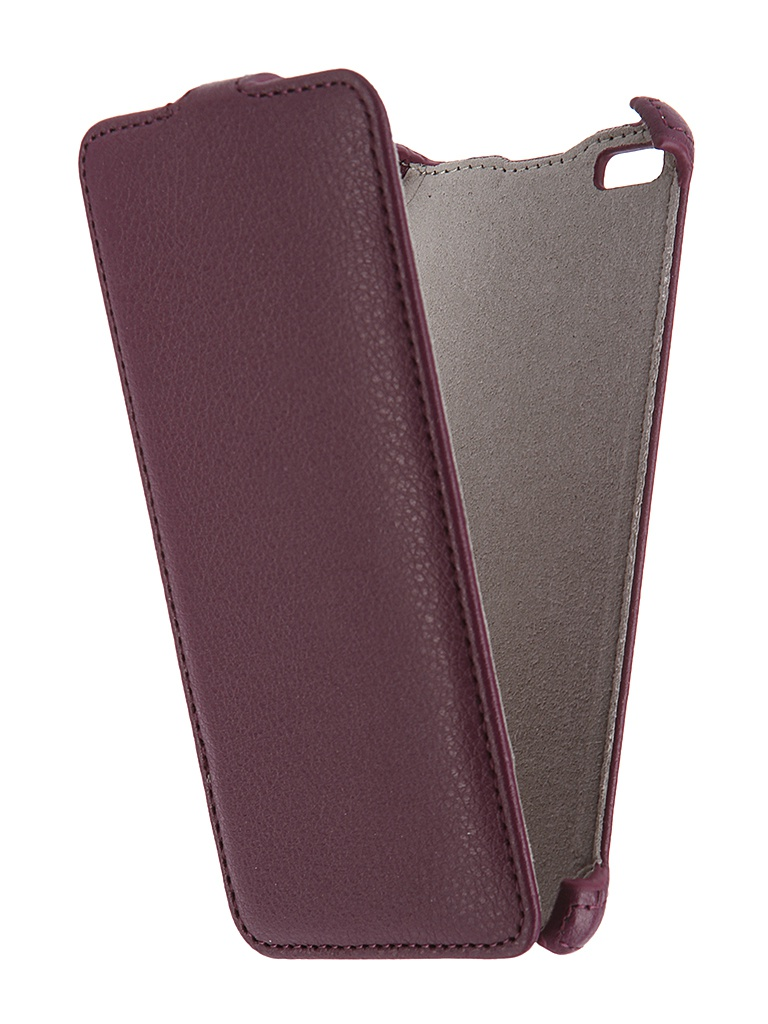 Аксессуар Чехол Micromax Q450 Canvas Silver 5 Activ Flip Case Leather Violet 55385