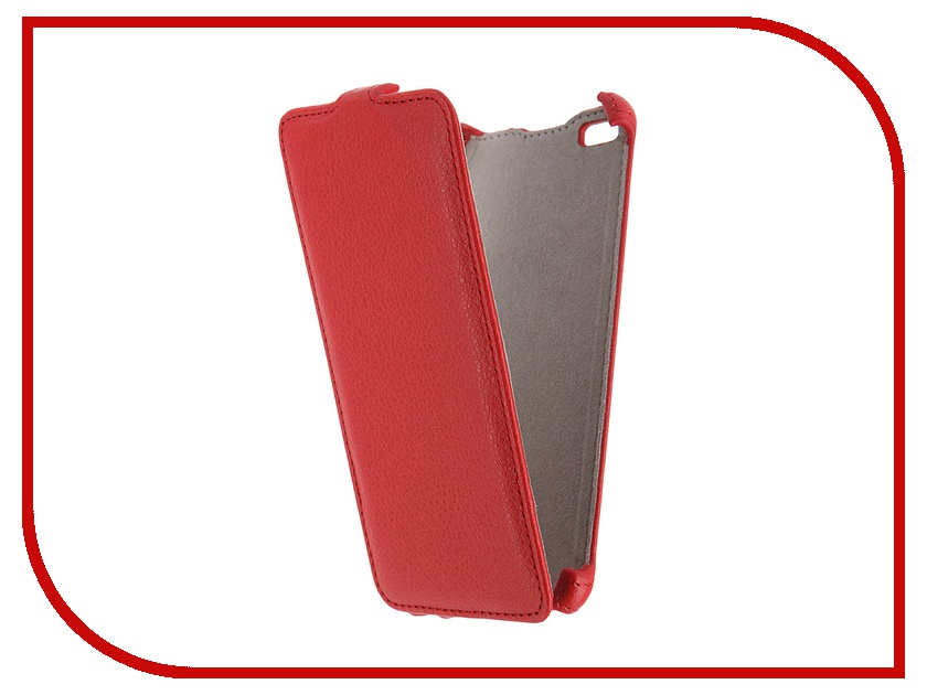 Аксессуар Чехол Micromax Q450 Canvas Silver 5 Activ Flip Case Leather Red 55384