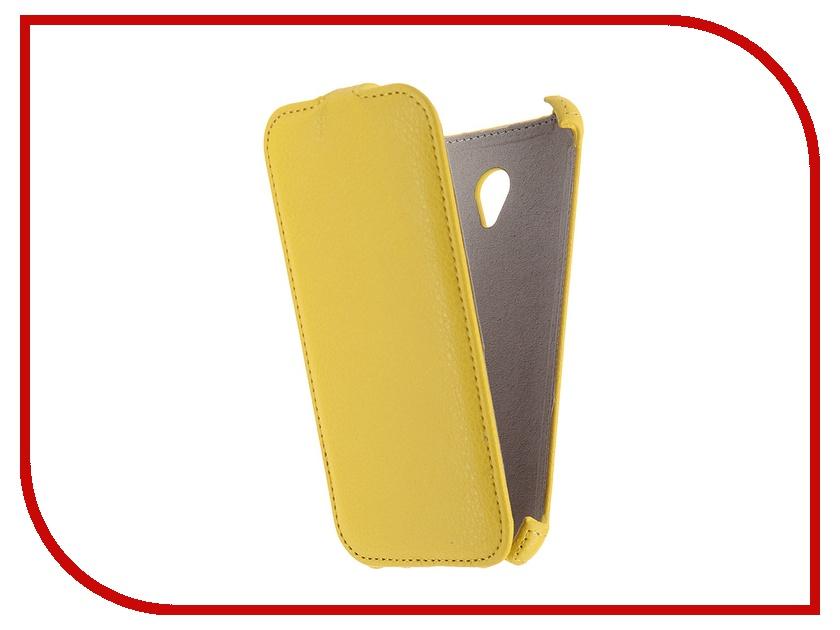 Аксессуар Чехол ASUS ZenFone Go ZC500TG Activ Flip Case Leather Yellow 52646<br>