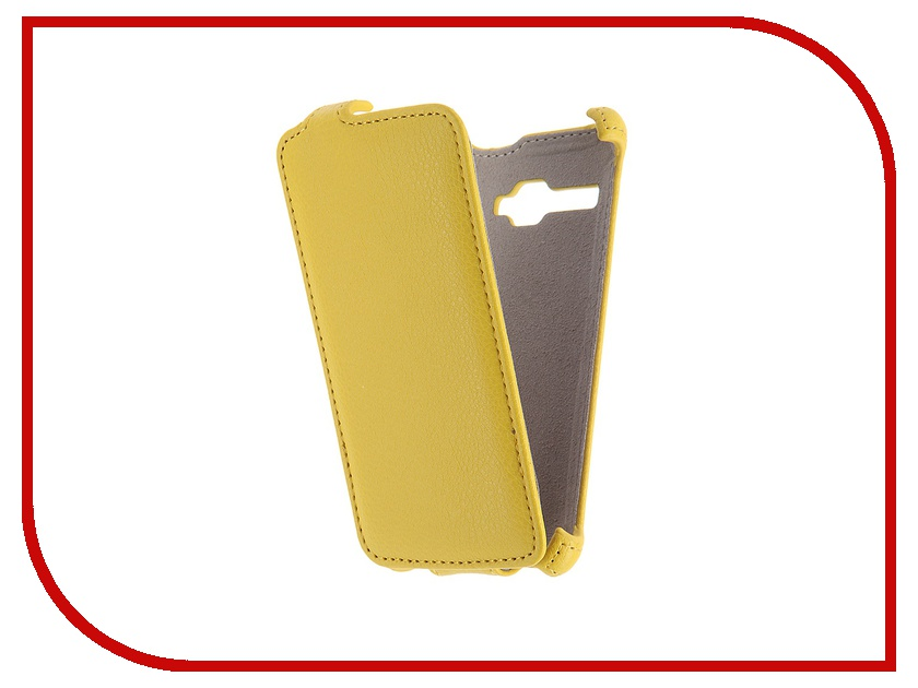 Аксессуар Чехол Fly FS401 Stratus 1 Activ Flip Case Leather Yellow 52681<br>