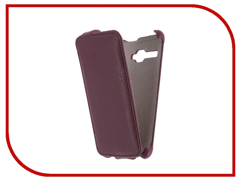 Аксессуар Чехол Fly FS401 Stratus 1 Activ Flip Case Leather Violet 52680<br>