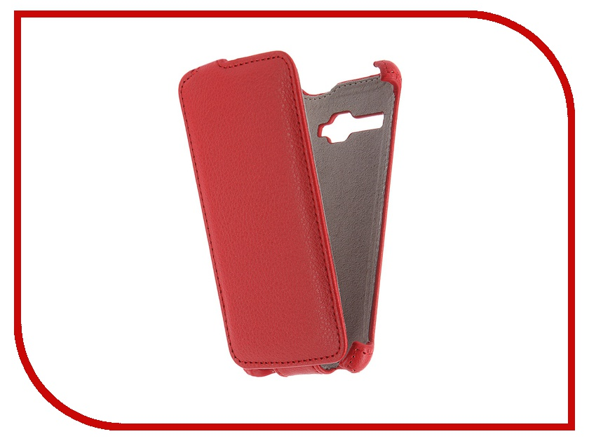 Аксессуар Чехол Fly FS401 Stratus 1 Activ Flip Case Leather Red 51311