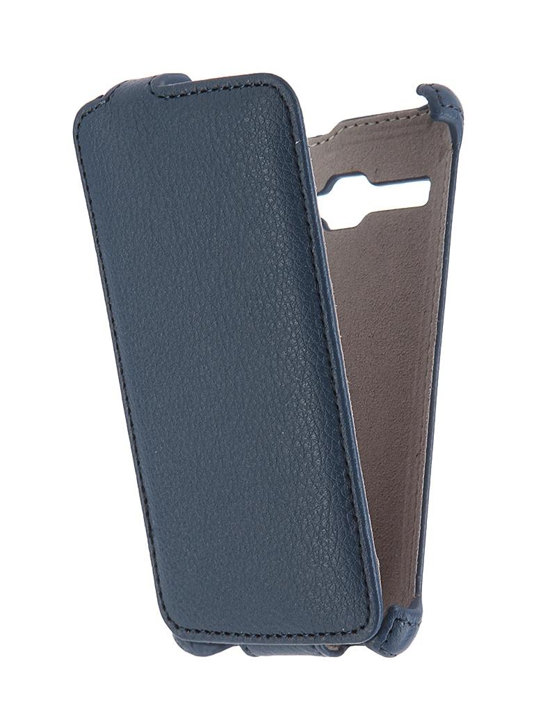 Аксессуар Чехол Fly FS401 Stratus 1 FS401 Activ Flip Case Leather Blue 52679<br>