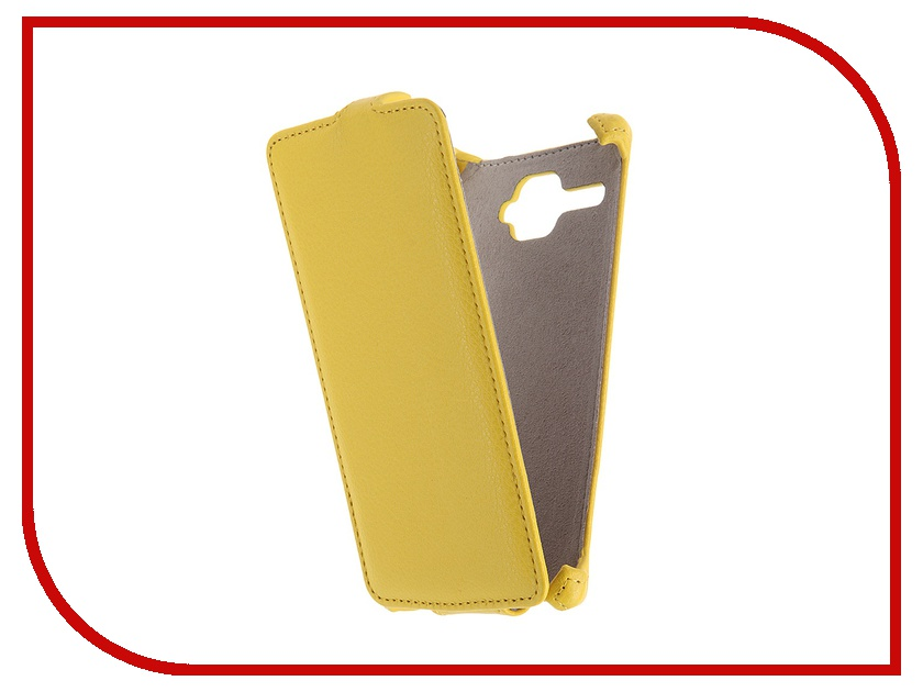 Аксессуар Чехол Fly FS501 Nimbus 3 Activ Flip Case Leather Yellow 52678