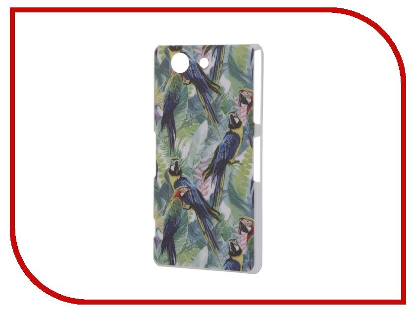 Аксессуар Чехол Sony Xperia Z3 Compact iPapai Флора Попугаи<br>