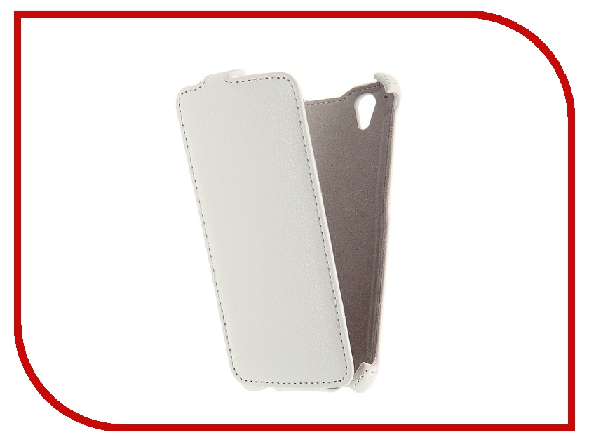 цена на Аксессуар Чехол Fly FS452 Nimbus 2 Activ Flip Case Leather White 51303