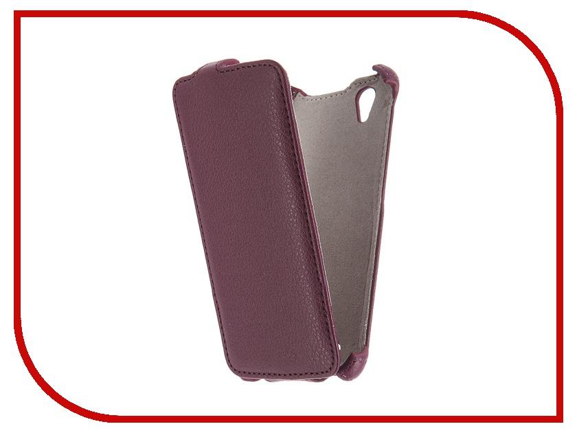 цена на Аксессуар Чехол Fly FS452 Nimbus 2 Activ Flip Case Leather Violet 52671