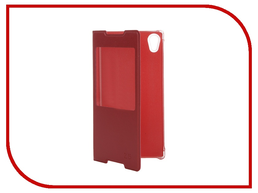 Аксессуар Чехол Sony Xperia Z5 Activ Book Case S View Cover Red 56424<br>