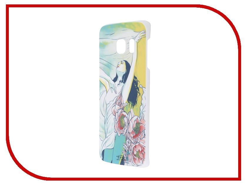 Аксессуар Чехол-накладка Samsung G925F Galaxy S6 Edge iPapai Женственность Брюнетка<br>