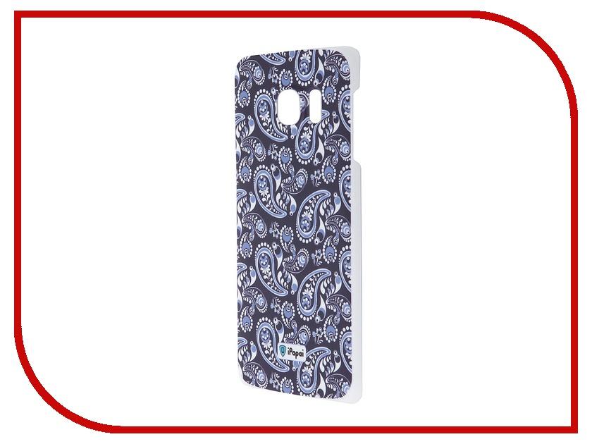 Аксессуар Чехол-накладка Samsung G925F Galaxy S6 Edge iPapai Гжель Blue<br>