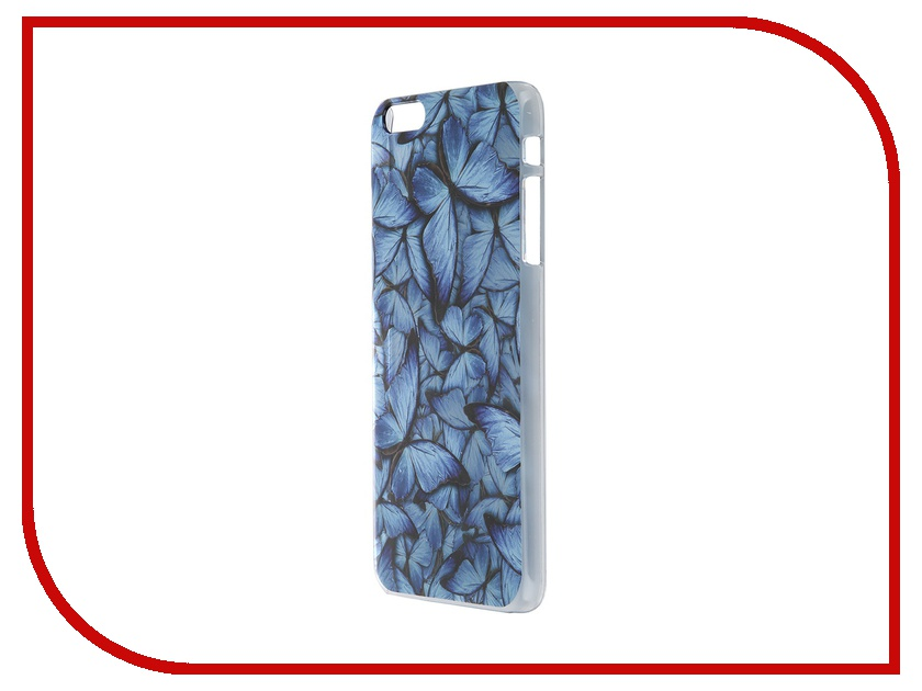 Аксессуар Чехол iPapai для iPhone 6 Plus Синие бабочки