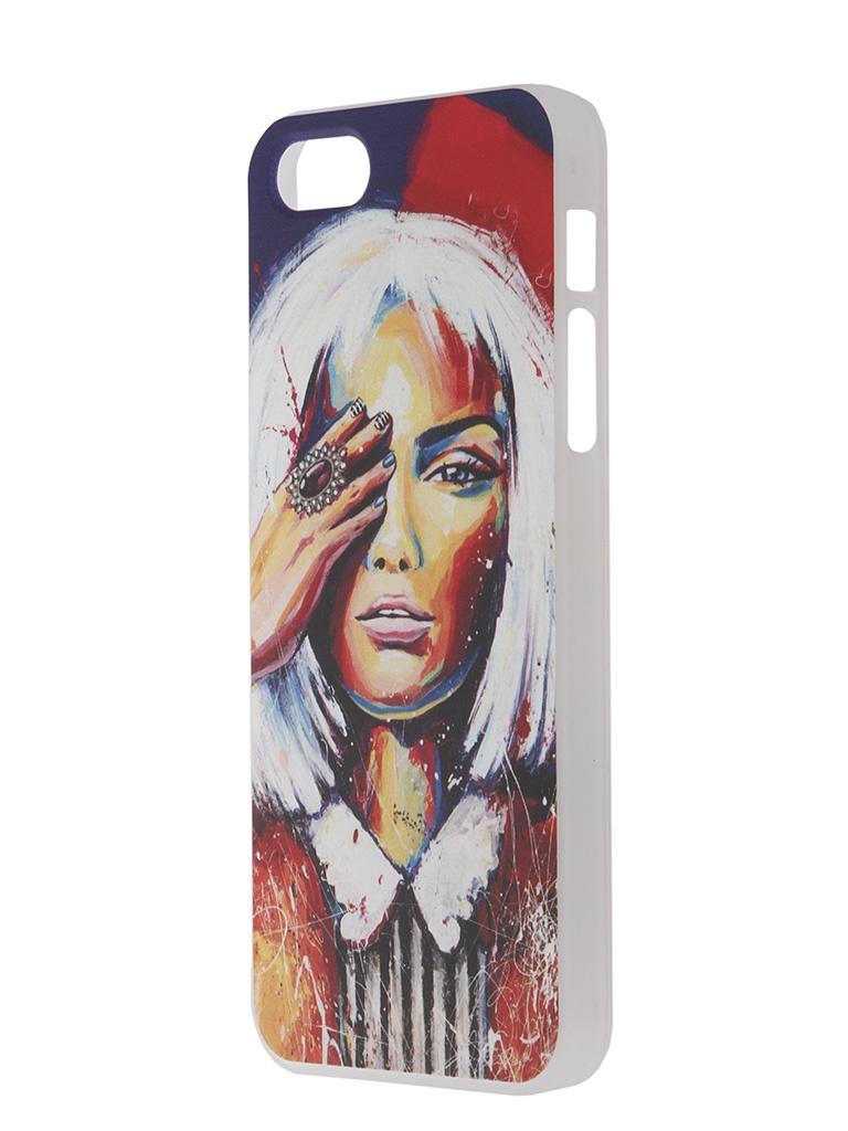 Аксессуар Чехол iPapai для iPhone 5 / 5S Light Art Блондинка<br>