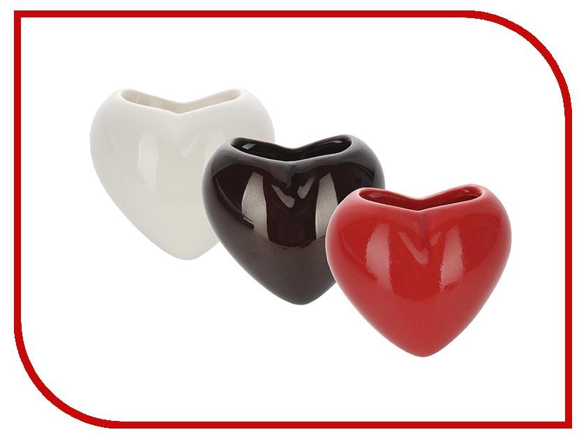 Гаджет Набор мини-кашпо Экочеловеки Heart Red/White/Black 4001 растение экочеловеки eco совы 5001 3шт