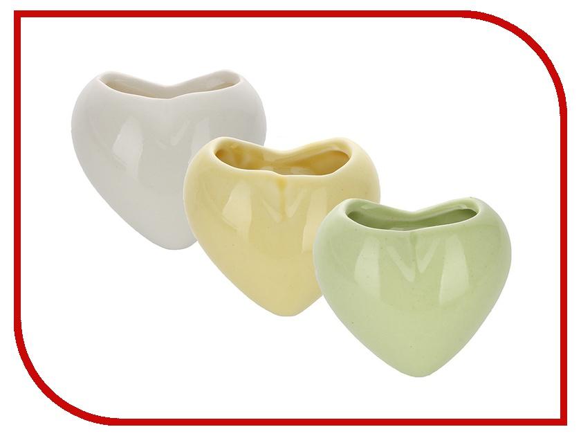 Гаджет Экочеловеки Heart набор мини-кашпо Yellow/White/Green 4002