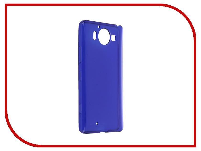 Аксессуар Чехол Microsoft Lumia 950 iBox Crystal Blue