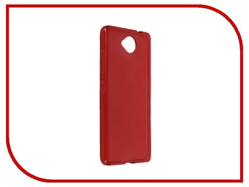 Аксессуар Чехол Microsoft Lumia 650 iBox Crystal Red аксессуар чехол microsoft lumia 650 cojess tpu 0 3mm grey