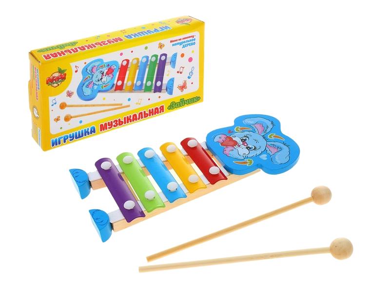 Детский музыкальный инструмент Лесная мастерская Счастливые зверята 1043689<br>