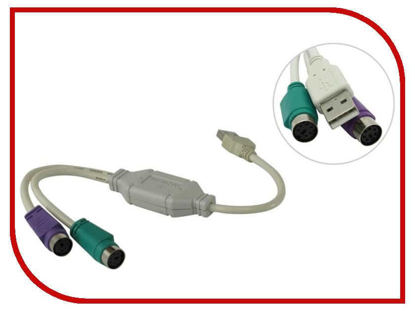 Аксессуар VCOM USB A - PS/2 VUS7057 блокнот printio прогулки по городу